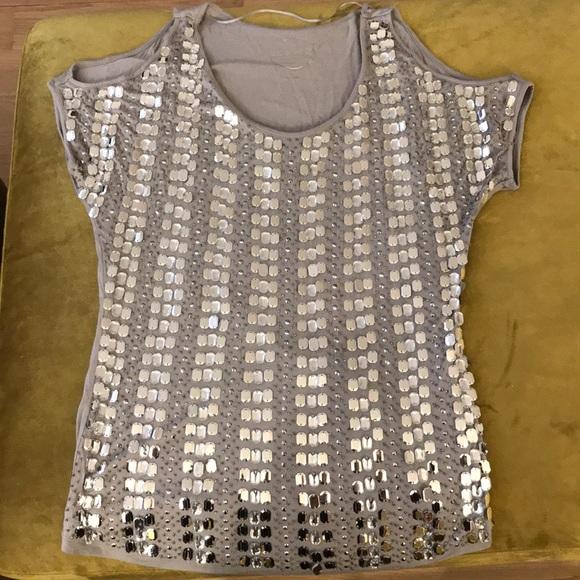 4407a7719f299 INC International Concepts Tops - I.N.C. Jeweled Cold Shoulder Top
